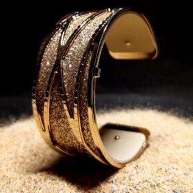 """Bracelet Dune Doré 40mm de la Collection """"Les Georgettes"""""""